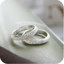 Latest Fashion Fortunately Life Is Simple Frosted Ring Convention Jewelry Factory Direct 1pcs