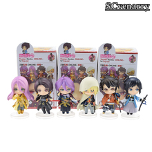 6pcs/set Anime Figma Sword Art Online Action Figures Toys Game Figurine Dolls Kids Friends Cosplay Gift