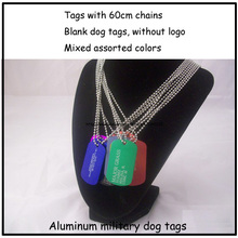 2014 New Design Men's Jewelry Pendant Dog Tags,Blank Aluminum Name Tags,Free Shipping Mixed Colors
