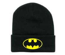 Europe and The United States Men and Women's Batman Pattern Embroidery Knitted Wool Elastic Beanies Hat Hip Hop Ski Cap RX078(China)