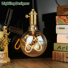 Golden G125 4W led edison bulb love filament light amber retro saving lamp vintage led filament bulb decor bulb LEDvintage lamp