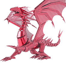 New Limited Edition WMX 3D Metal Puzzle Dragon Flame P071-RS DIY Metal Puzzle Kits Jigsaw Model Adult Toy For Collection