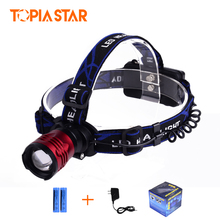 TOPIA STAR 18650 Rechargeable Head Torch Light High Power Zoomable Cree LED Headlamp Head Lamp