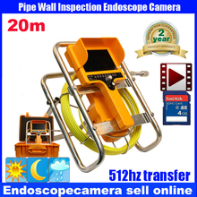 security endoscope pipe inspection camera waterproof 12pcs led lights dvr video recording with keyboard function 20M