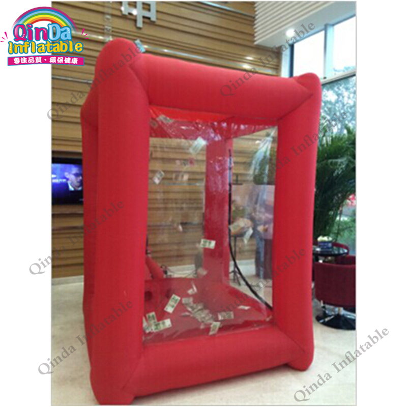 inflatable money catch grab machine booth26