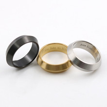 Gold Color Band Brushed Wedding Stainless Steel Solid Ring Men Women Irregular Finger Ring Couple Ring Anel De Ouro