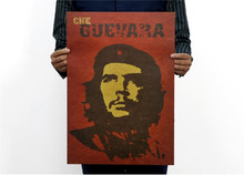 51x35cm Wall Sticker Che Guevara Posters Advertising Nostalgic Old Bar Complex Decorative Painting Vintage Greeting Card