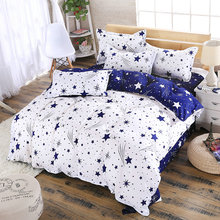 Home Textiles Modern Style Blue And White Star Series Quilt Cover Soft And Comfortable Duver Cover Bed Sheet Bedding Set