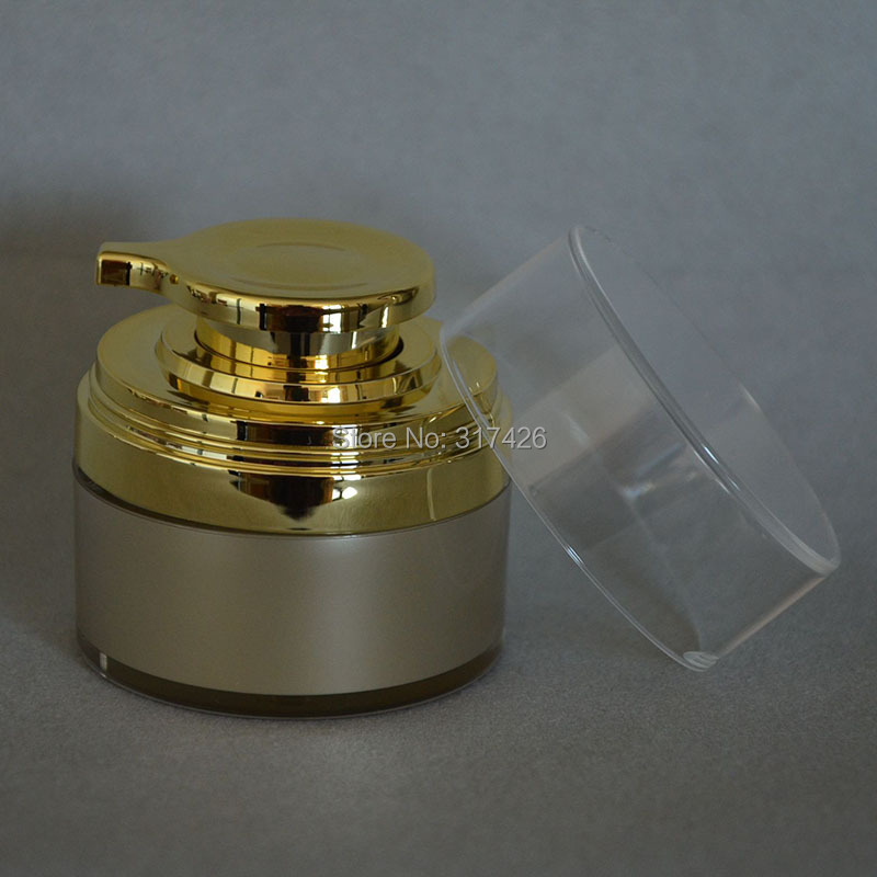 ree Shipping- 50ml airless jar,acrylic jar,cream jar,acrylic bottle<br><br>Aliexpress