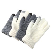Women Warm Wool Stretch  Screen Gloves Knit Mittens Winter Accessories(China)