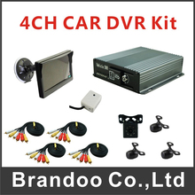 Cheap 4CH Mobile DVR MDVR Kit For Taxi Bus Support SD Card Including 4pcs Car Camera