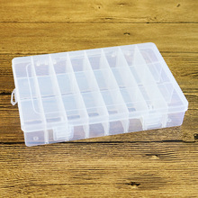 Brand New Convenient 24 Grids Transparent Plastic Jewelry Storage Rectangle Box Nail Arts Ring Organizer