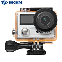 Buy EKEN H8 PRO Action Camera Ambarella A12S75 Sport DV 4K Ultra HD Dual Screen WiFi 2.4G Controller Sony IMX078 12.0MP Sensor for $112.99 in AliExpress store