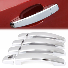 8pcs Car Styling For Chevrolet Cruze 2009-2014 OPEL MOKKA ASTRA J ABS Chrome Trim Door Handles Cover Sticker Exterior Decoration(China)