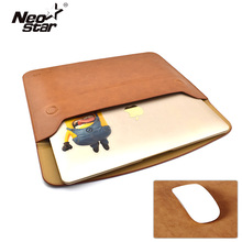 Sleeve Bag Case Notebook Cover for Macbook Air Pro Retina 11 13 PU Leather Ultrabook Laptop Tablet PC Anti-scratch + Sticker(China)