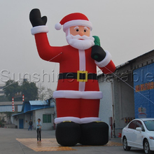 2016 amazing inflatable Christmas decoration santa carry bag for christmas event