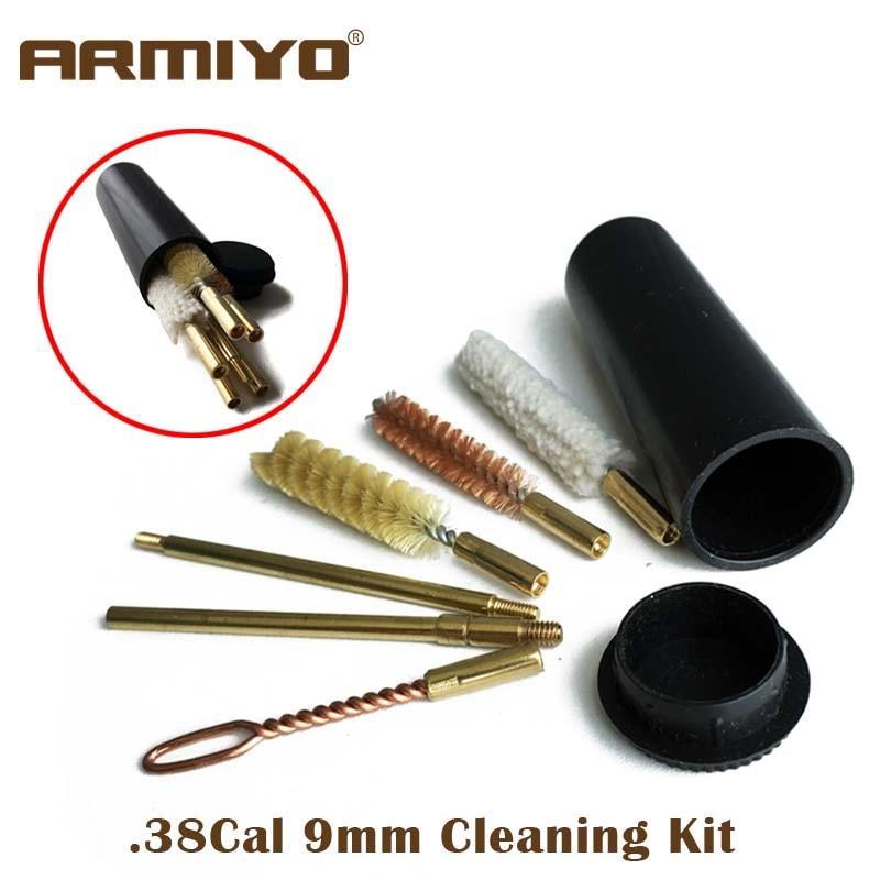 Bore Snake Cleaner Gun cleaning kit .38 .357 9MM Calibre Pistol Woll Brass Brush