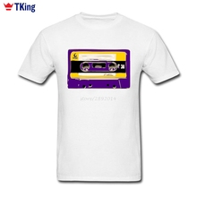 70s DJ T Shirt For Men Custom Short Sleeve 2017 New Popular Camiseta tshirt Cotton Vintage Music Radio Tape 3XL 3d T-Shirt