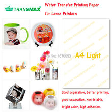 Free Shipping 20 Sheets Transparent White Color A4 Laser Printer Water Slide Decal Paper Water Transfer Printing Paper