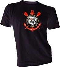 Camisa dos homens t C Corinthians Paulista Brasil Brasil de Futebol t shirt  Da Moda novidade mulheres tshirt em Camisetas de Dos homens de Roupas ... 44724801c59c7