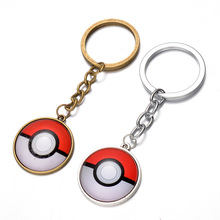 25mm two colors pokemon Pendant Key Chain Anime Catoon Zinc Alloy Metal Keychain Pokemon key chains