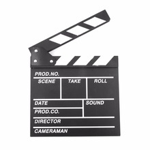 Diretor Cena Vídeo Claquete TV Movie Clapper Board Film Slate Cut Prop(China)