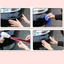 CAR Bumper Anti-collision Strip Sticker FOR Chevrolet Cruze Aveo Captiva Lacetti Mazda 3 6 2 Mitsubishi ASX Lancer Accessories(China)