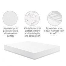 150X200CM Luxury Terry Cotton Mattress Cover 100% Waterproof Hypoallergenic Breathable - Vinyl Free Mattress Cover(China)