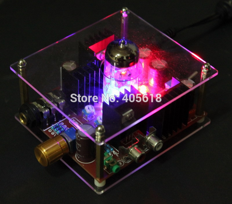 Low price new DC24V Hi-Fi Class A 6N11 Tube headphone amplifier Electricity Generation<br><br>Aliexpress