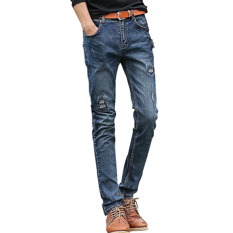2017 New Arrival Men Jeans Ripped Distressed Broken Men Pencils Cotton Biker Motor Jeans Casual Pants Slim Fit Trousers Blue Одежда и ак�е��уары<br><br><br>Aliexpress