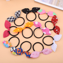 20pcs/lot Rabbit Ears Hair Band Women Children Hair Rope Kids Scrunchy Elastic Head Band Head rubber hair clip Hair Accessories