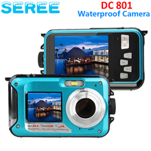 Seree 5MP CMOS 2.7inch TFT Digital Camera Waterproof 24MP MAX 1080P Double Screen 16x Digital Zoom Camcorder Wholesale