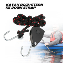 New Size Small/Large Kayak Canoe Boat Pulley Rope Adjustable Lock Bow Stern Tie Down Strap Rope Hanger with Hook(China)