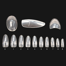 Factory outlets 500 pcs oval nail tips clear half cover false nails nature bueaty 11# professional Nail Christmas Products(China)
