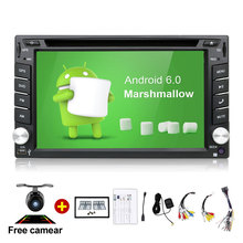 Quad Core autoradio 2 din android radio gps navigation car dvd player 2din steering wheel Rear View Camera WIFI TV (Option)(China)
