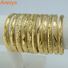 Buy Anniyo (One Piece) Wholesale Fashion Dubai Bangle Jewelry Gold Color Ethiopian Bracelet Women Africa Arab Items for $3.46 in AliExpress store