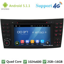 Quad Core 1024*600 Android 5.1.1 Car DVD Player Radio Stereo PC 3G/4G WIFI GPS Map For Mercedes-Benz E Class W211 W209 W219 W463(China)