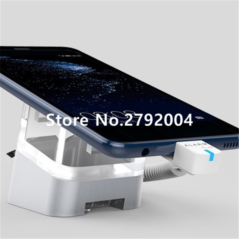 5 set/lot Acrylic Cell Phone Retail Stand Magnetic Sticker Fix Alarm Charger Smartphone Holder Mobile Exhibition Anti-theft<br>