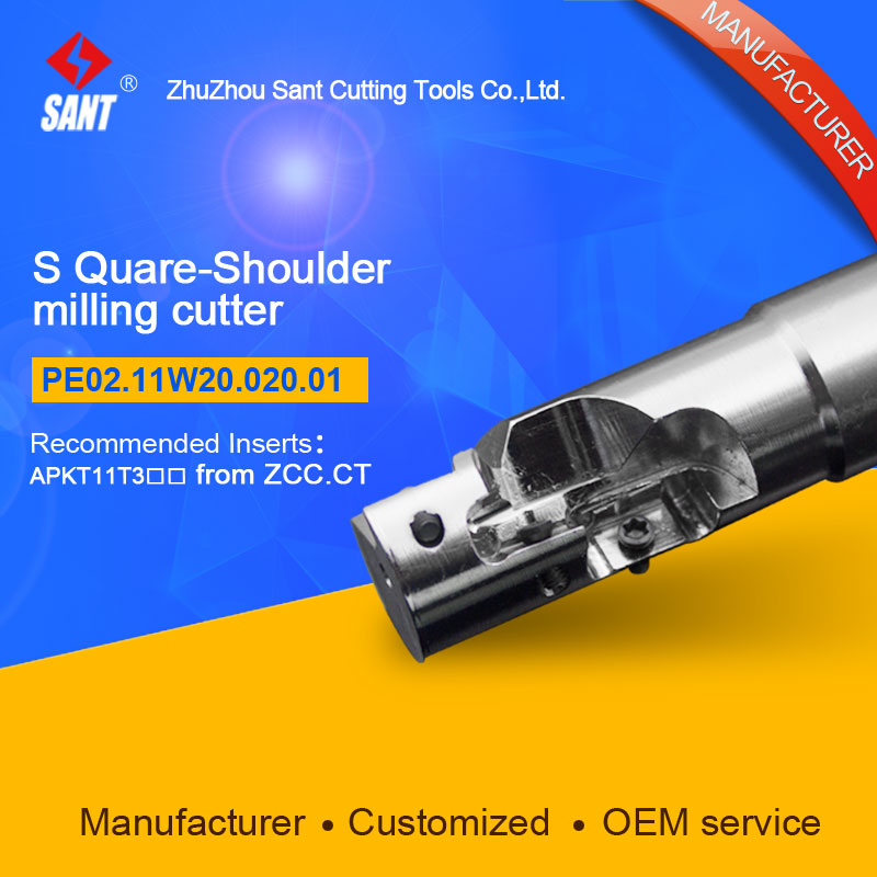 Suggested EMP04-020-XP20-AP11-01 Indexable Milling cutter SANT PE02.11W20.020.01 with APKT11T3 carbide insert<br>