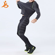 YD New Compression Quick Dry Tight Tracksuit Men Training Fitness Long Sleeve Shirt Pants Male O-Neck Gym Running Set Sport Suit(China)