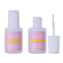 1 Pcs 10g False Glue Nail Art Tips Glitter Acrylic Decoration with Brush False Nail Gel Glue Fake Nails Nail Label(China)