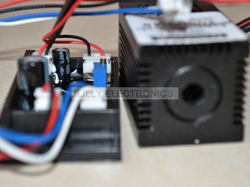 445nm-450nm 50mw 12V Blue Ray Laser Dot Module w/ Driver out<br>