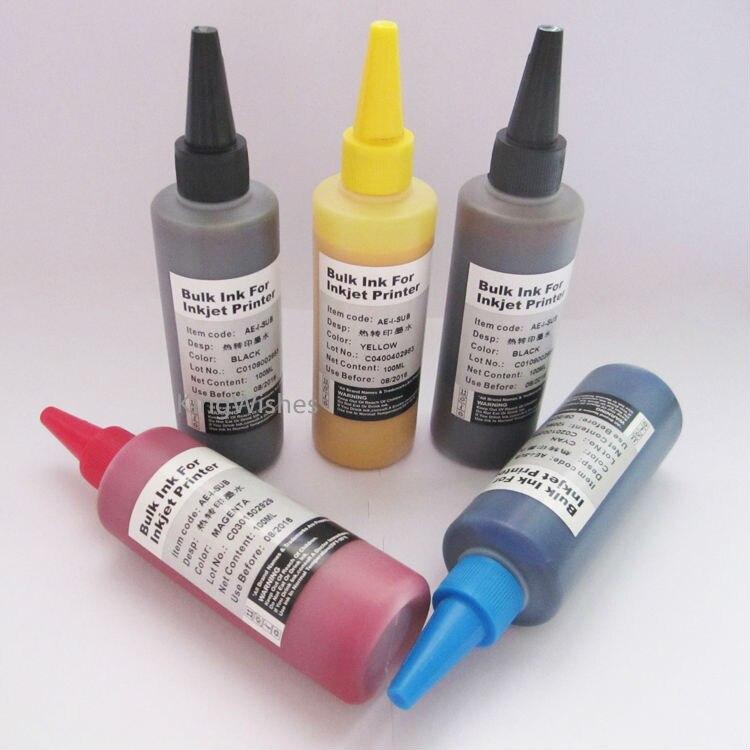 5 Bottles T0731N T0731N T0732N T0733N T0734N Sublimation Ink For Epson Stylus TX510FN Inkjet Printer<br><br>Aliexpress