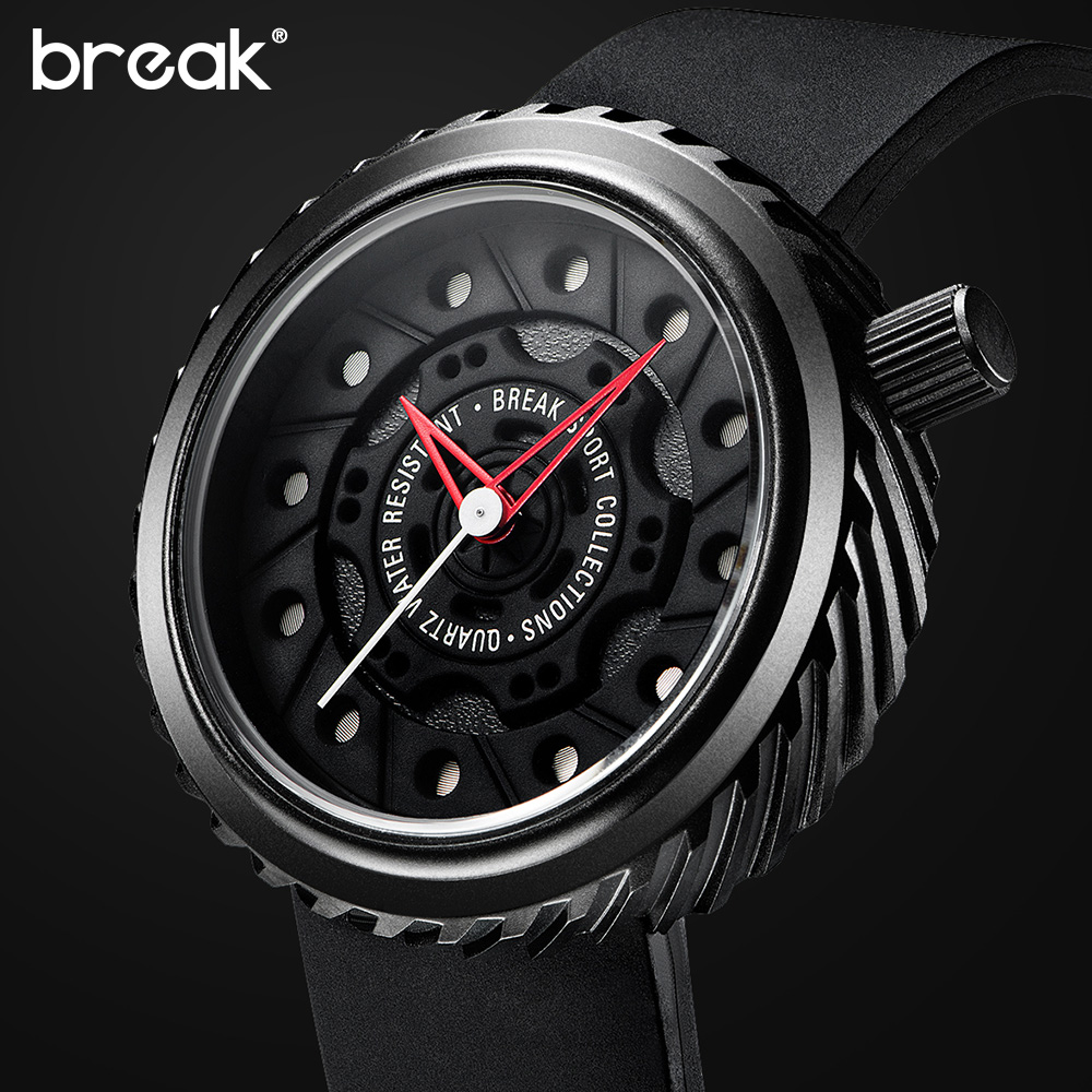 BREAK Luxury Brand Fashion Casual Men Male Classic Clock Rubber Strap Classic Military Sport Business Wrist Quartz Gift Watch<br><br>Aliexpress