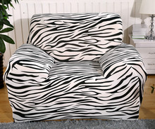 Spandex Stretch Zebra Sofa cover Big Elasticity 100% Polyester Couch cover Loveseat SOFA Furniture Cover