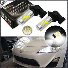 2pcs 6000K Xenon White 144-SMD-3014 High Power 9005 HB3 9145 H10 LED Bulbs For Scion FR-S Toyota FT-86