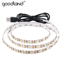 Goodland USB LED Strip Light 2m 3m USB LED Tape DC 5V SMD 3528 LED Ribbon White/Warm White Flexible Light TV Background Lighting(China)