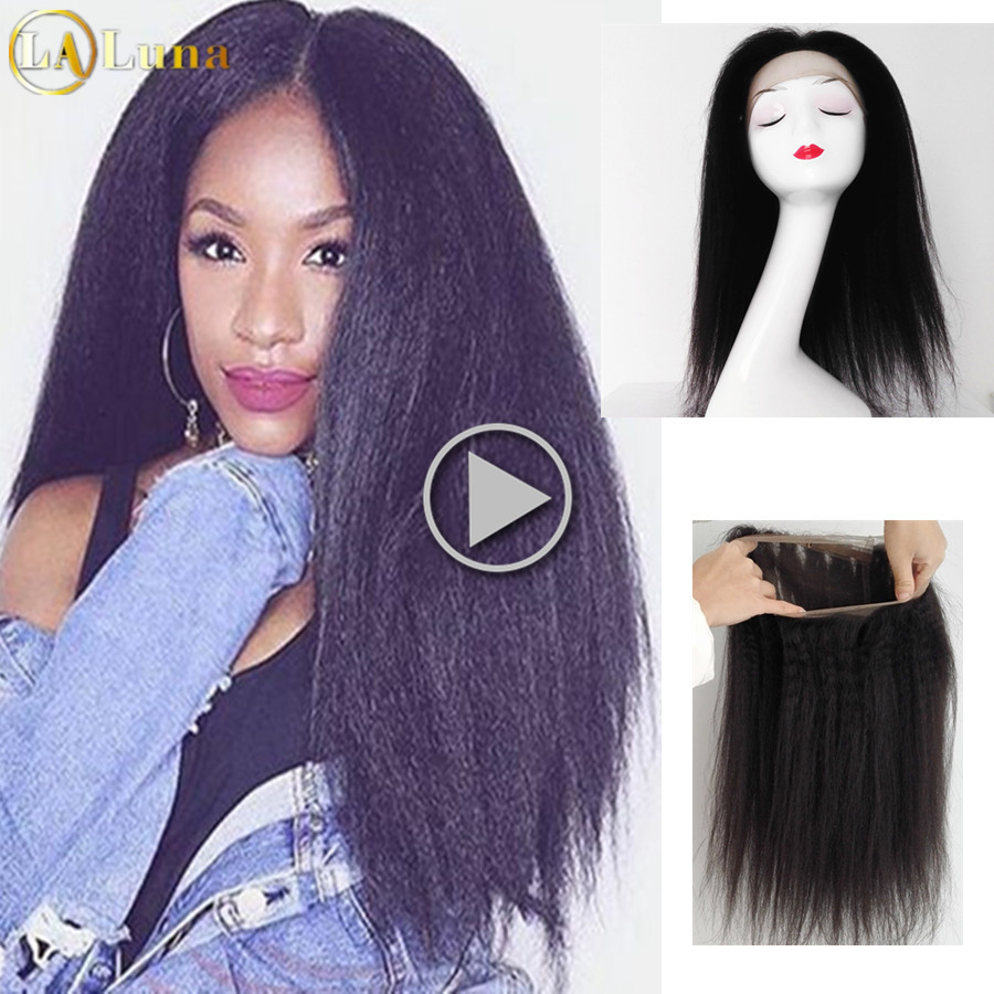 360 Full Lace Frontal Closure With Baby Hair 8A Pre Plucked Indian Virgin Hair With Closure Kinky Straight 360 Lace Frontal<br><br>Aliexpress