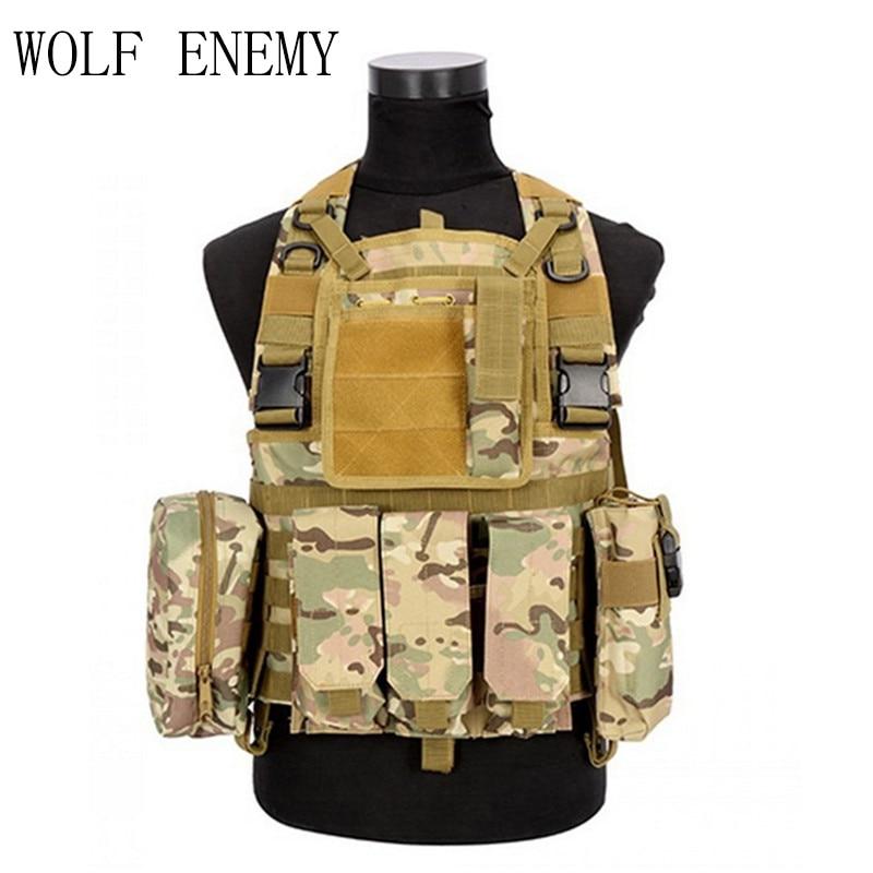 Tactical Military Vest Field Airsoft Cs Vest Apron Vest Military Protective Equipment<br>