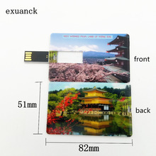 exuanck Card Shaped USB Flash Drive 2.0 Memory Stick4gb 8GB 16gb 32gb Custom Retail And Wholesale Unique(over 10pcs free logo)